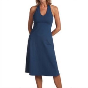 PATAGONIA blue halter strap dress small